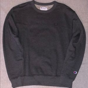 """Champion"" Sweater Crew Neck Gray"